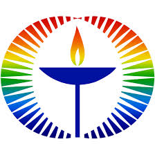 Rainbow UUA chalice logo white background small